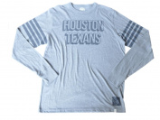 Houston Texans 47 Brand Grey Big Logo Striped Long Sleeve T-Shirt