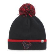 Houston Texans Navy Red Baraka Knit Cuffed Poofball Beanie Hat Cap