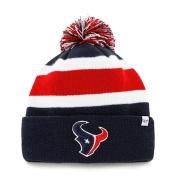 Houston Texans 47 Brand Tri-Tone Breakaway Knit Cuffed Beanie Poofball Hat Cap