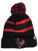 Houston Texans Black Breakaway Knit Cuffed Poofball Beanie Hat Cap