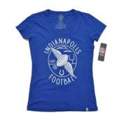 Indianapolis Colts 47 Brand Women Blue Vintage Scoop Neck T-Shirt