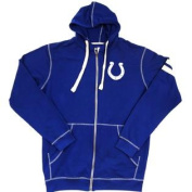 Indianapolis Colts Majestic Full Zip Hooded Sweatshirt Size LT