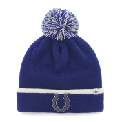 Indianapolis Colts Blue White Baraka Knit Cuff Poofball Beanie Hat Cap