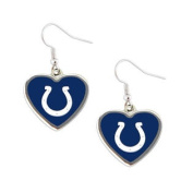 Indianapolis Colts NFL Sports Team Non-Swirl Heart Shape Dangle Earring Charm Jewellery Pendant