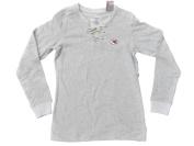 Kansas City Chiefs Antigua Women Grey 1/4 Lace-Up Long Sleeve Sweatshirt
