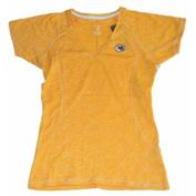Kansas City Chiefs Antigua Womens Gold Translucent V-Neck T-Shirt