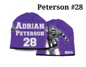 Minnesota Vikings Adrian Peterson #28 NFLPA Synthetic Stretch Beanie One Size Unisex Adult