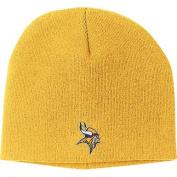 Minnesota Vikings Gold Basic Logo Cuffless Knit Hat