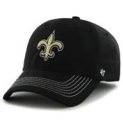 New Orleans Saints Black Game Time Closer Performance Flexfit Hat Cap