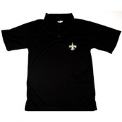 New Orleans Saints NFL Team Apparel E-Systems Polo Shirt Size XLT