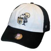 New Orleans Saints 47 Brand Black White Freshman Retro Adjustable Slouch Hat Cap