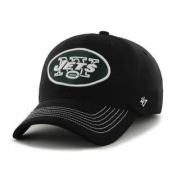 New York Jets 47 Brand Black Game Time Closer Performance Flexfit Hat Cap
