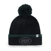 New York Jets Black Green Baraka Knit Cuffed Poofball Beanie Hat Cap