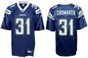 Antonio Cromartie San Diego Chargers #31 Replica Reebok NFL Football Jersey (Dark Navy) - Size Small