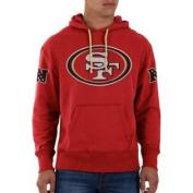 San Francisco 49ers 47 Brand Red Sure Shot Scrimmage Hoodie Sweatshirt