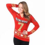 San Francisco 49ers Colin Kaepernick #7 Womens V Neck Glitter Sweater Size S w/ Priority Shipping