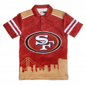 San Francisco 49ers KLEW Forever Collectibles Thematic Polo Shirt Size M-XXL
