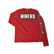San Francisco 49ers 47 Brand Red NFC Black White Logo Long Sleeve T-Shirt