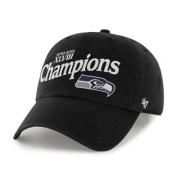 Seattle Seahawks 47 Brand Super Bowl XLVIII Champions Black Adjustable Hat Cap