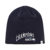 Seattle Seahawks 47 Brand 2015 XLIX Super Bowl NFC Champions Navy Hat Cap Beanie