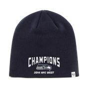 Seattle Seahawks 47 Brand 2014 NFC West Champions Navy Hat Cap Beanie