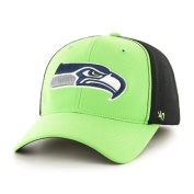 Seattle Seahawks Lime Green Two Tone Draught Day Closer Flexfit Hat Cap