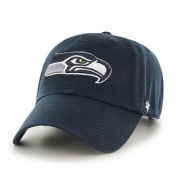 Seattle Seahawks 47 Brand Navy Clean Up Adjustable Slouch Hat Cap