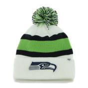Seattle Seahawks 47 Brand White Navy Green Knit Cuff Breakaway Beanie Hat Cap