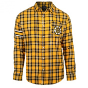 Boston Bruins Wordmark Basic Flannel Long Sleeve Shirt Size S w/ Priority Shipping