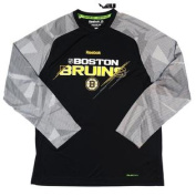Boston Bruins 2015 Reebok Centre Ice TNT Play Dry Long Sleeve Tshirt Size L