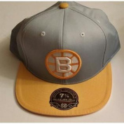 Boston Bruins Mitchell and Ness Vintage Hockey Hi Crown Fitted Cap 7 3/8