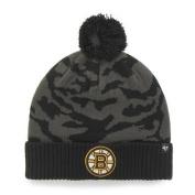 Boston Bruins 47 Brand Charcoal Black Twenty Nine Cuffed Beanie Hat Cap