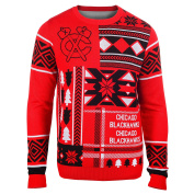 Chicago Blackhawks Forever Collectibles KLEW Ugly Sweater with Priority Shipping