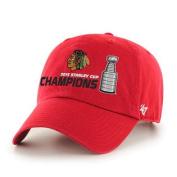 Chicago Blackhawks 2015 NHL Stanley Cup Champs Red Trophy 47 Brand Adj Hat Cap