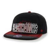 Chicago Blackhawks Black 5 Panel Glowdown Adjustable Snapback Hat Cap
