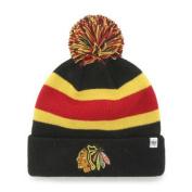 Chicago Blackhawks Black Breakaway Knit Cuffed Poofball Beanie Hat Cap