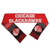 Chicago Blackhawks Forever Collectibles Unisex Reversible Split Logo Scarf