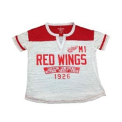 Detroit Red Wings SAAG Women's NHL White Two Toned Short Sleeve T-Shirt