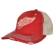 Detroit Red Wings Retro Brand Red Beige Vintage Stitched Snapback Hat Cap