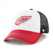 Detroit Red Wings Tri-Tone Privateer Closer Mesh Flexfit Slouch Hat Cap