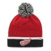 Detroit Red Wings Red Black Baraka Knit Cuffed Poofball Beanie Hat Cap