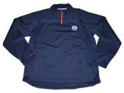 Edmonton Oilers Navy Quarter-Zip Performance Pullover Sweatshirt
