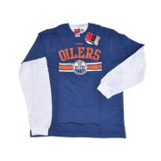 Edmonton Oilers Blue and White 2 Pack of Long/Short Sleeve T-Shirts