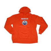 Edmonton Oilers Orange Big Logo Pullover Hoodie Sweatshirt