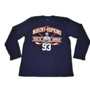Edmonton Oilers Navy Ryan Nugent-Hopkins Long Sleeve Knit T-Shirt