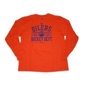 Edmonton Oilers Orange Big Logo Long Sleeve Soft Cotton T-Shirt