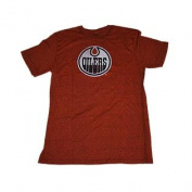 Edmonton Oilers Orange Flecked Big Logo Short Sleeve T-Shirt