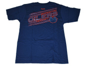 Edmonton Oilers Navy Hockey Logo Soft Cotton Short Sleeve T-Shirt