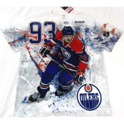 Edmonton Oilers Reebok Face Off RYAN NUGENT-HOPKINS #93 T Shirt Size L