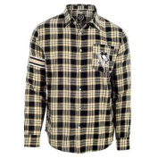 Pittsburgh Penguins Wordmark Basic Flannel Long Sleeve Shirt Size M w/ Priority Shipping